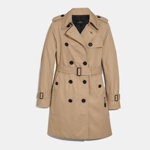 COACH TRENCH COAT -  CLASSIC JACKET AUTHENTIC 100%